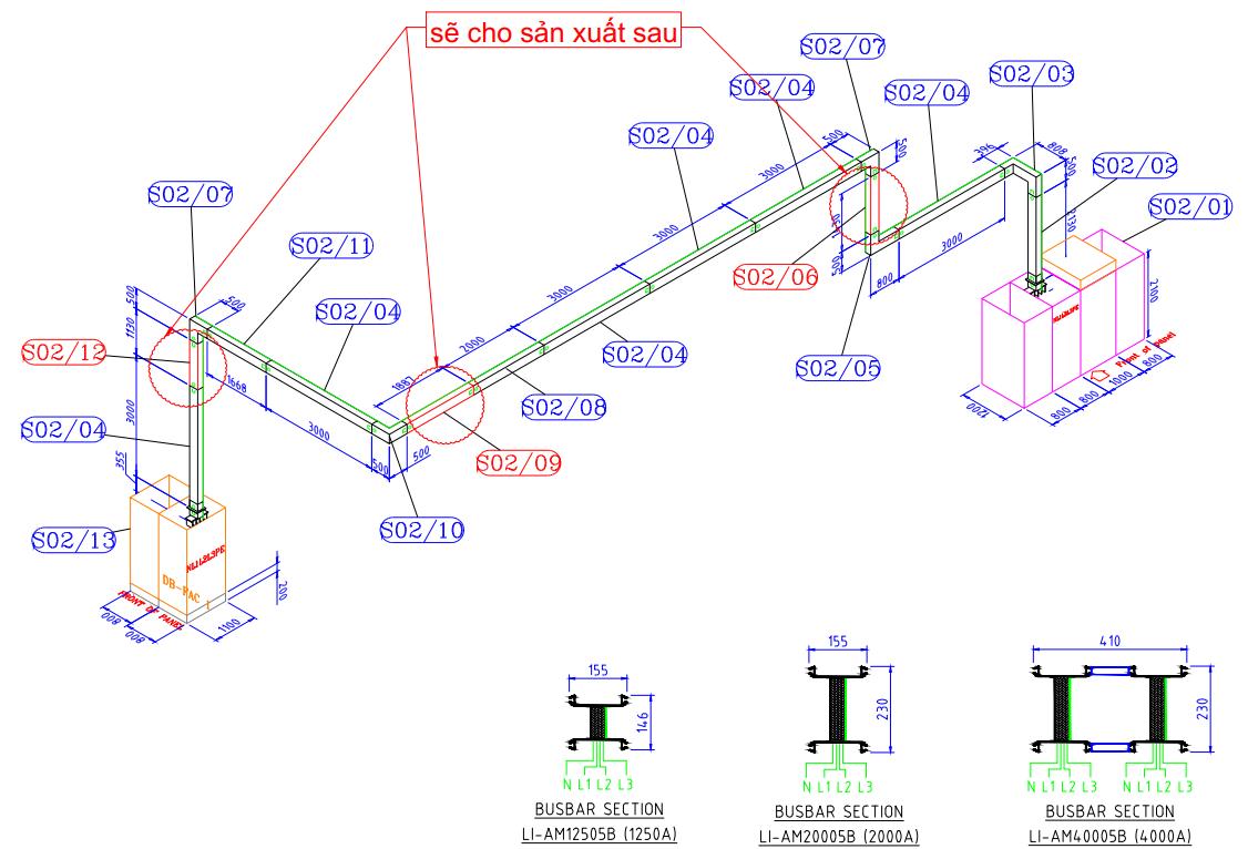 Bản vẽ hệ thống Busway Siemens